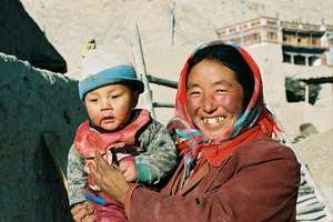 Tibetan Midwife and Child