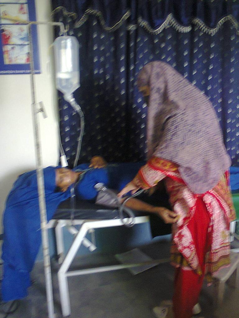 Huma at the Community Health Center