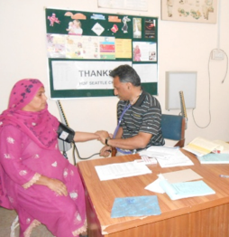 Patient receiving antenatal care at the CHC