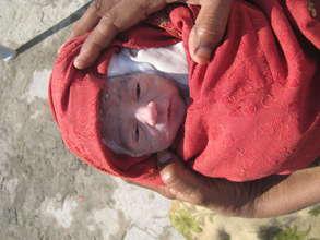 Newborn at HDF's CHC in Islamabad