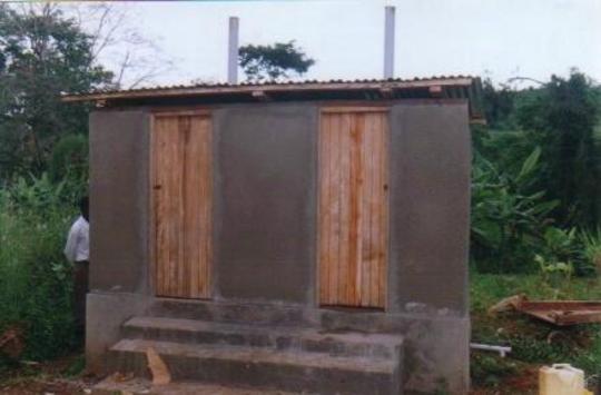 final ecosan latrine completed at Buyijja village