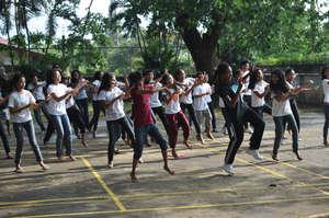 Performing in their workshop!