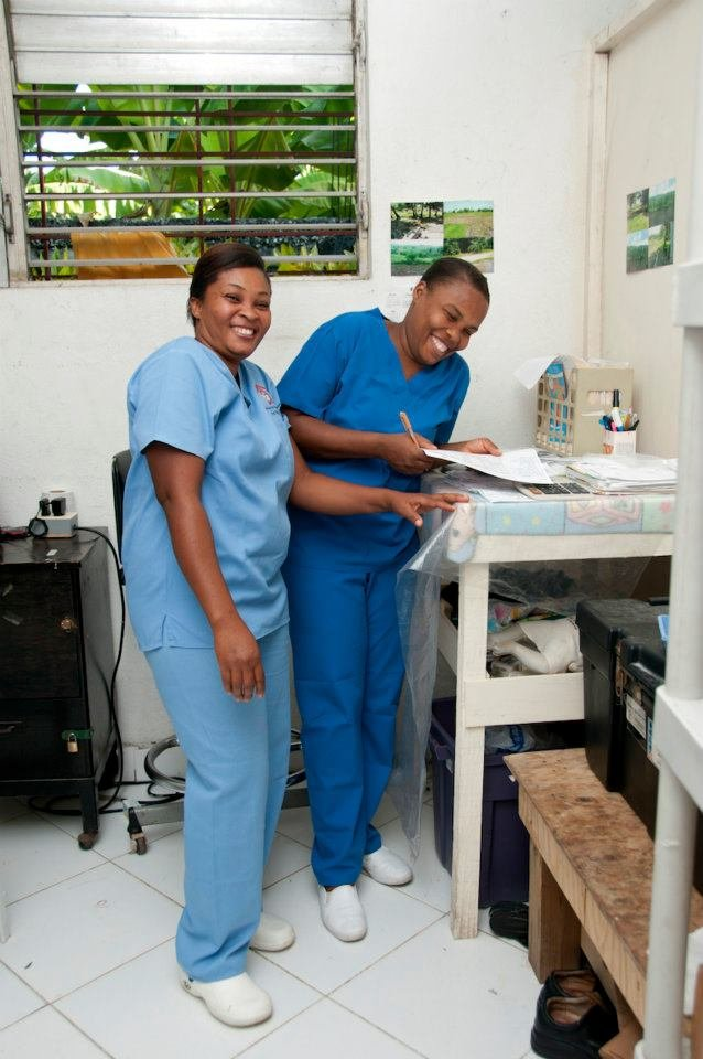 Pay a Haitian midwife's salary for one year at MN