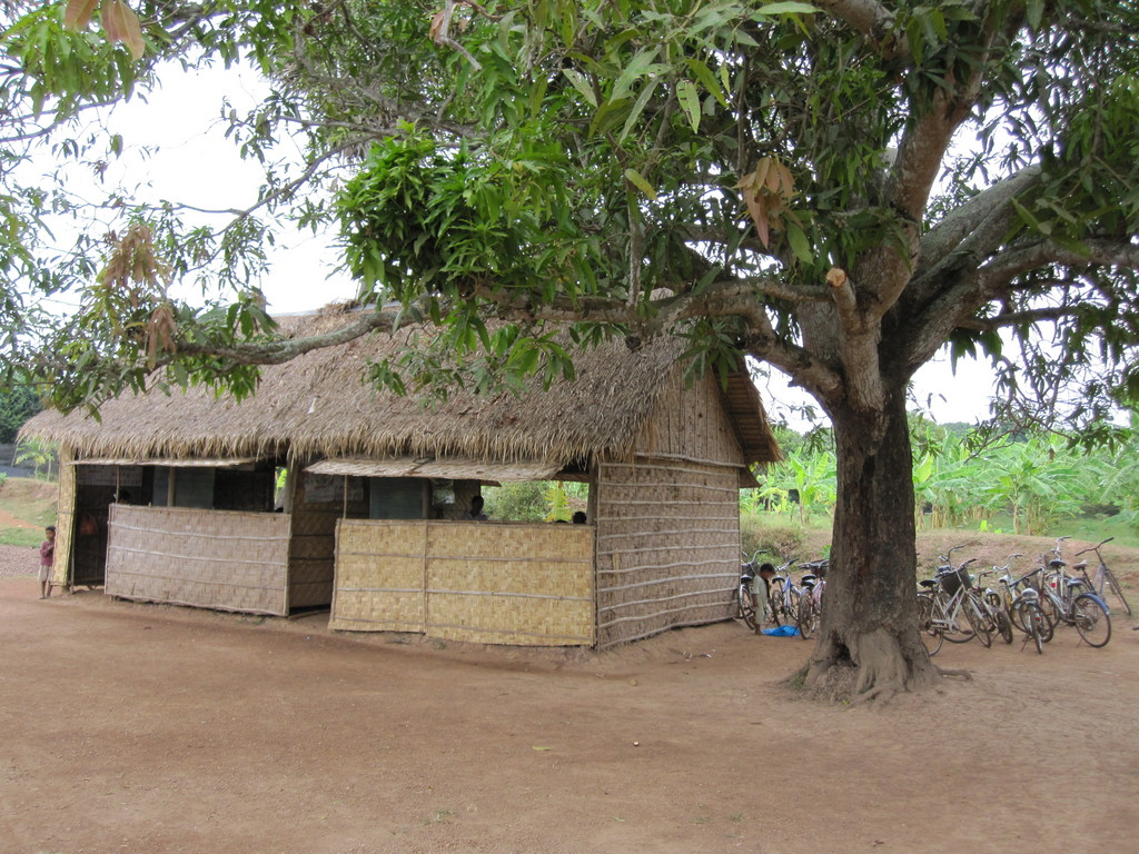 The two classrooms.
