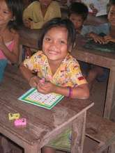 Srey Touch, student at TSF's Khmer Literacy School