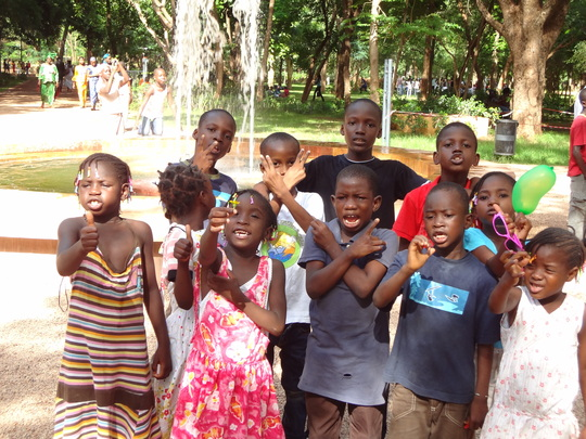 Our children enjoying outdoor