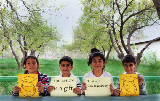 Children show quotes about education N2