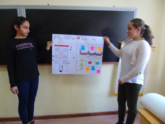 Participants show their schools