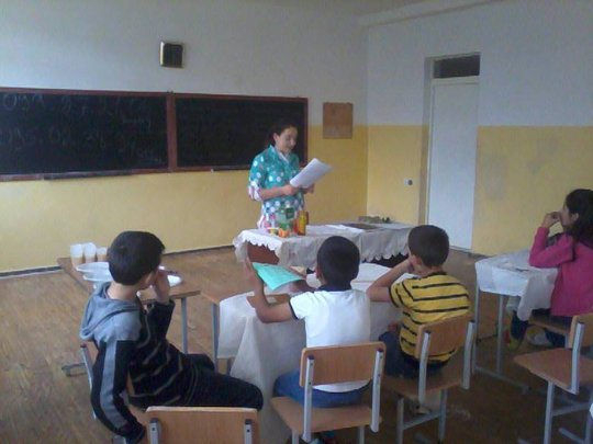 Listening to their teacher