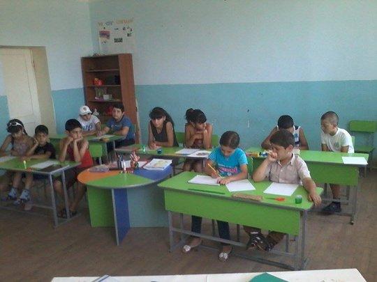 Children listening to their tasks attentively