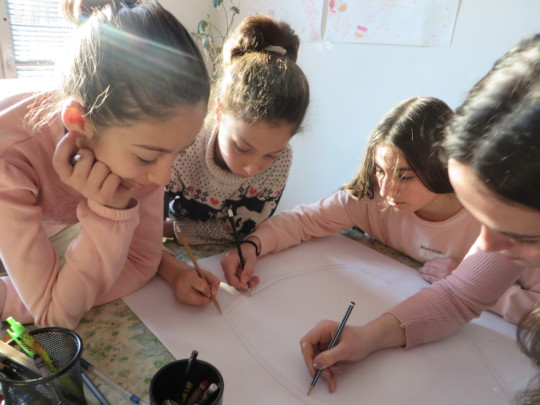 Children depicting the dream community