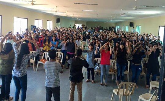 The Volunteers doing the YMCA dance
