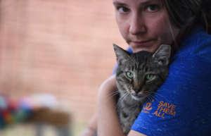 Caregiver Kristen Kolar with Major