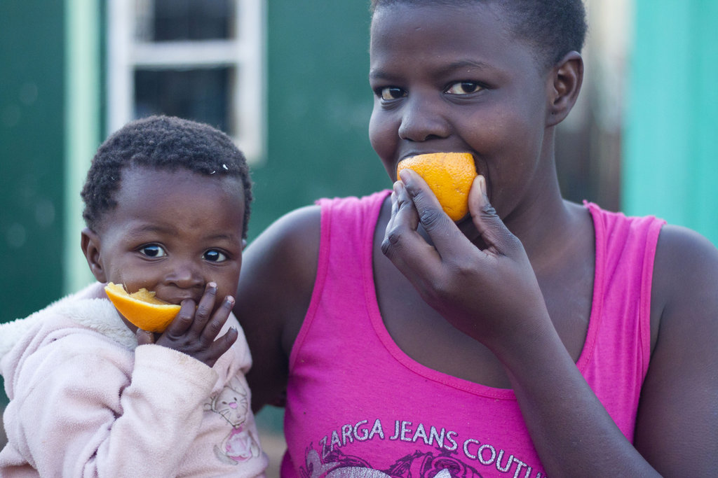 Getting our vitamin C because of your gift.