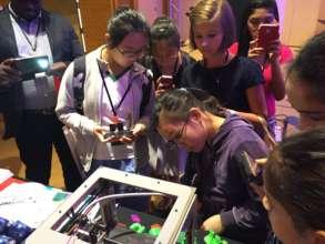 greenlight girls in Singapore explore 3D printing