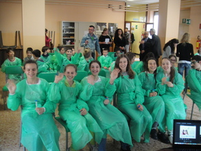 Lab time in Italy!