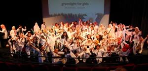 So many happy girls in Amman, Jordan!
