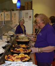 Residents prepare food for Ronald McDonald House
