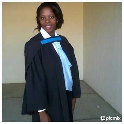 Bwalya at her graduation
