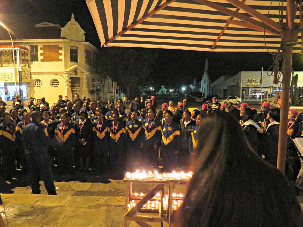 Candle light tribute for Nelson Mandela