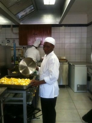 Busi in the Villa Dinne kitchen