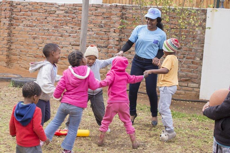 Students at Vuyani Safe Haven