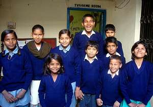Rescue Junction Children with new sweaters