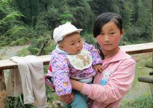 Two sisters from a remote village in Baosheng town