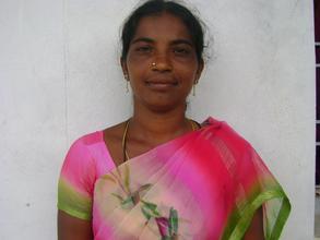 Rajini is grateful for her sewing machine