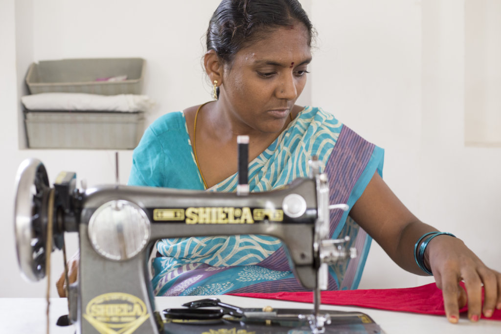 Give a sewing machine to a mom in India