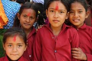 Village Girls in Uniforms
