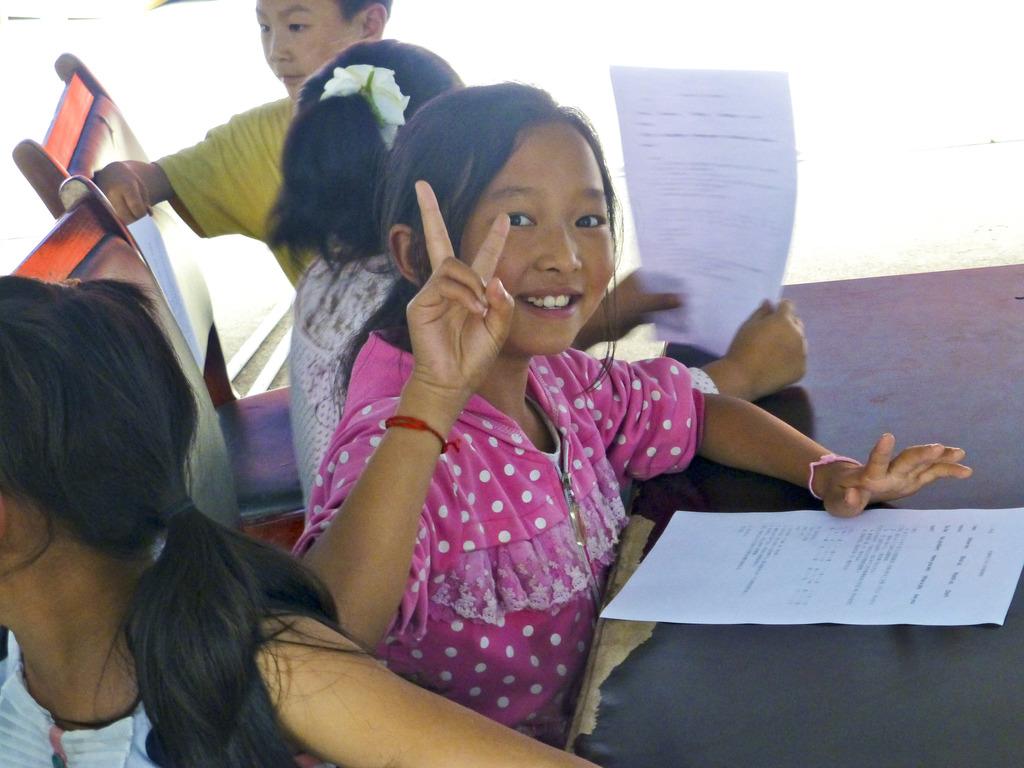 Beneficiary student enjoys school day