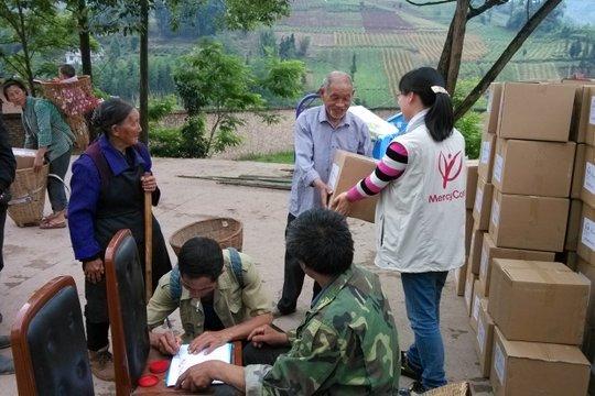 Hygiene kits help earthquake survivors