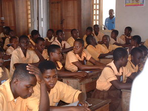 section of students during a schools outreach