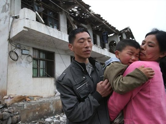 the kids affected in the 7.0 earthquake in China