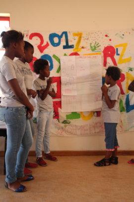 Boxgirls presenting at community event
