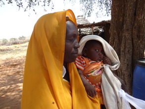 A women and her starving child in Kindro village