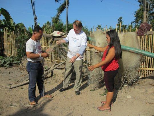 Inspecting New Fishing Nets