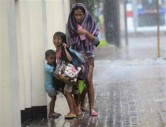 Children in Typhoon Haiyan (Source: Reuters)