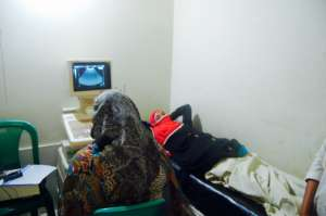 First Time Mother Receiving an Ultrasound