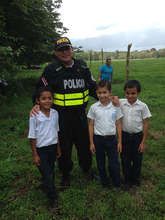 Police chief and the boys, been planting