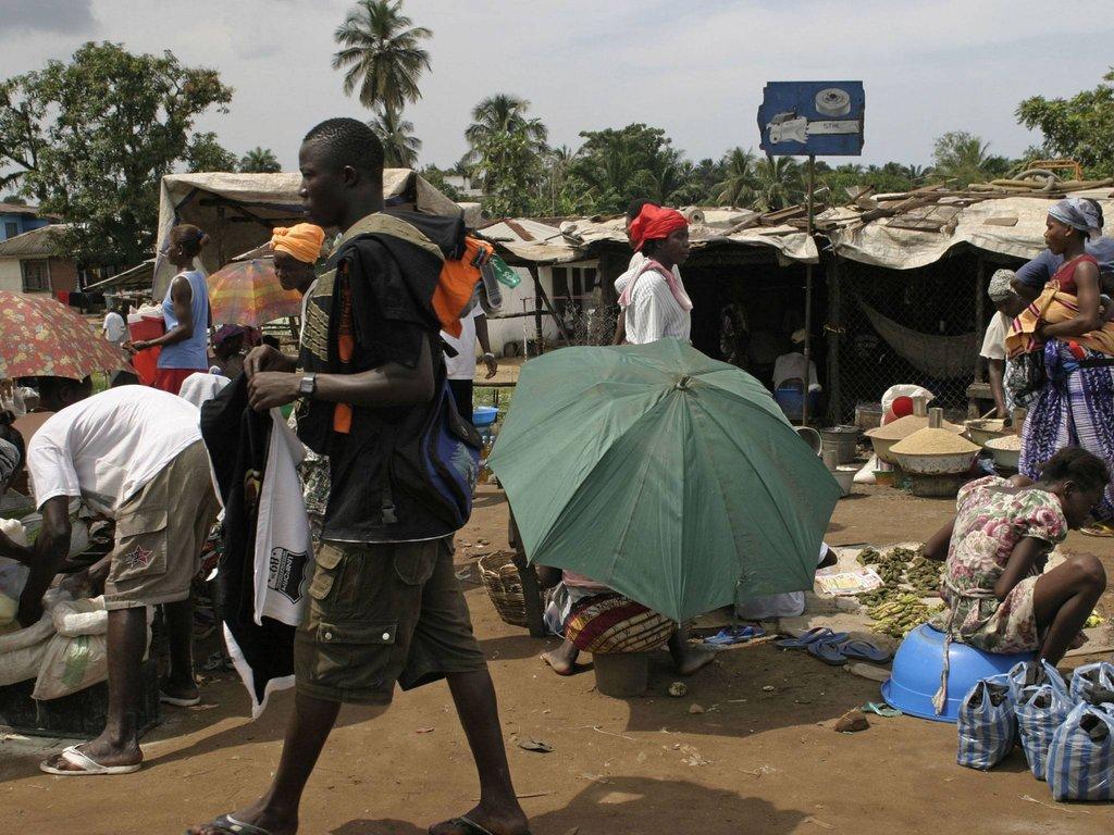 Liberian refugee camp