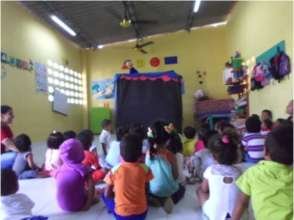 Puppet theater for children