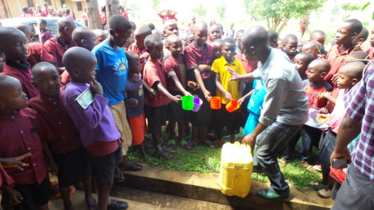 #1: Giving water to students