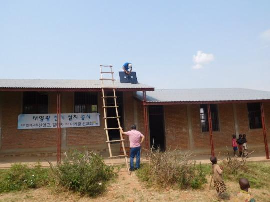 #5: Installing solar panel plates