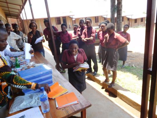 #2: Students receiving materials