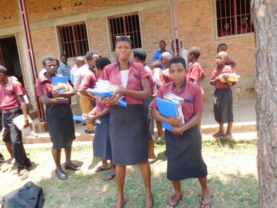 #4: Students happy of the school materials given