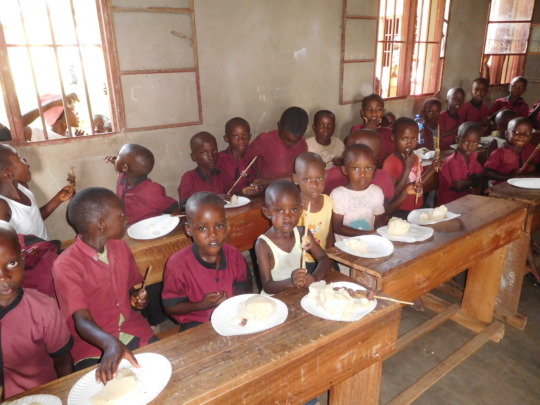 #1: students sharing Christmas meal