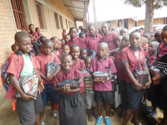 Some of our students were given school materials