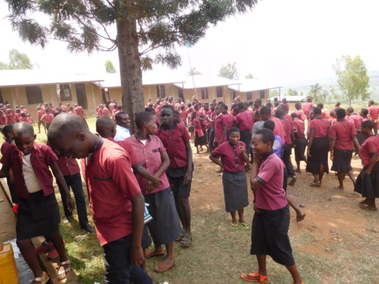 # Students playing outside of the school